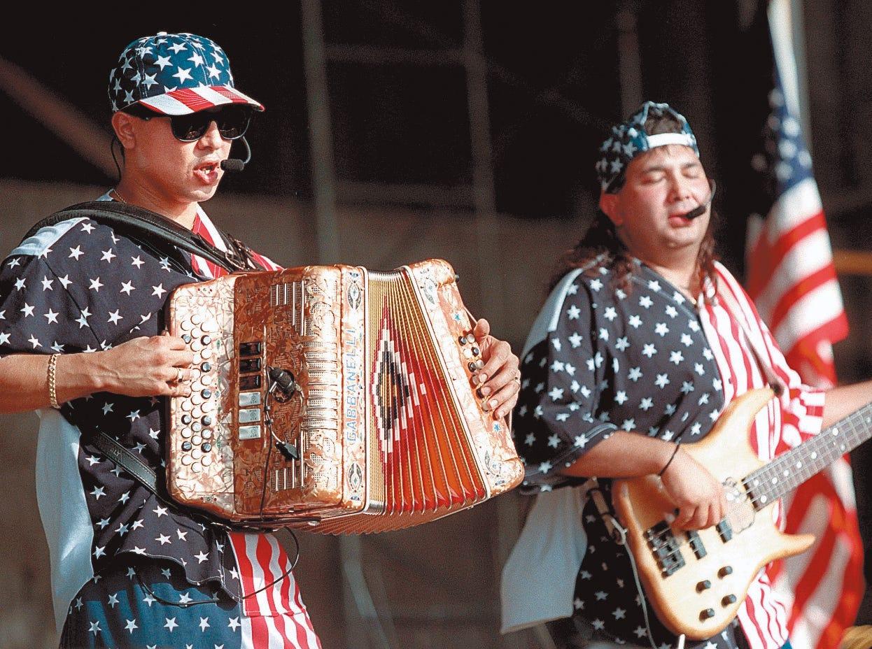 Jaime y Los Chamacos perform at Freedom Fest Juyl 3, 1997 at Texas Sky Festival Park.