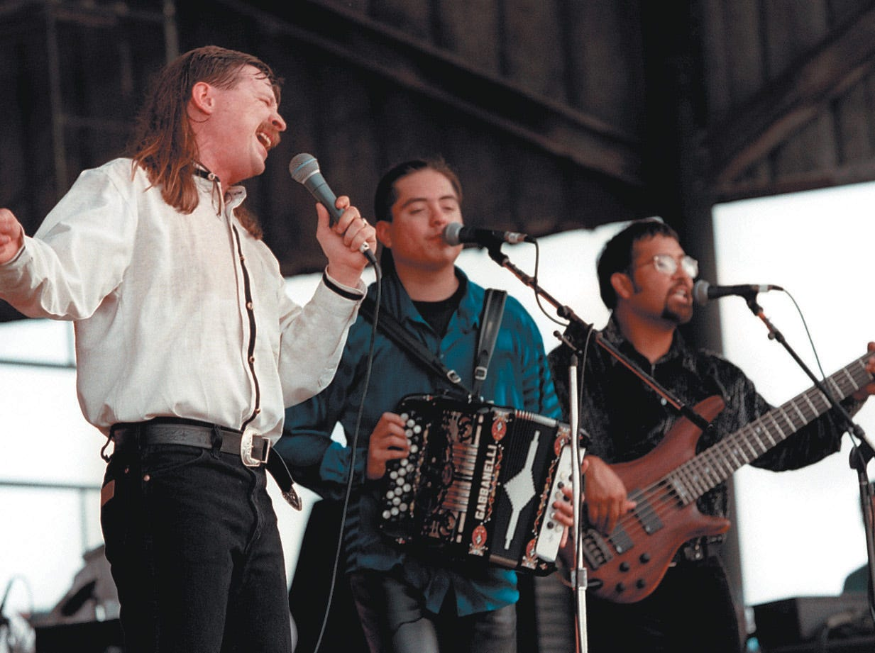 Fandango U.S.A. performs Aug. 24, 1997 during Freddie Fest 97 at Texas Sky Festival Park in Corpus Christi.