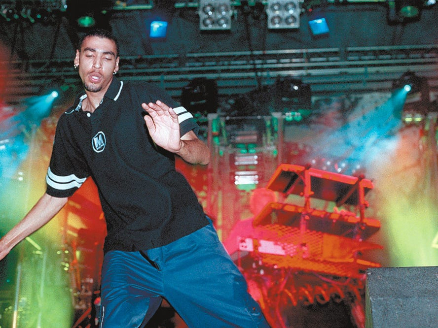 Prodigy was one of the headliners at Lollapalooza Aug. 3, 1997 at Texas Sky Festival Park in Corpus Christi, TX.