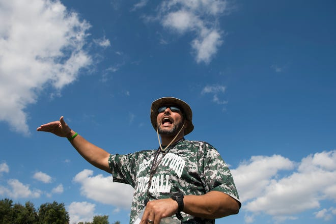 West Deptford head coach Jay Morrell during practice Wednesday, Oct. 3, 2018.