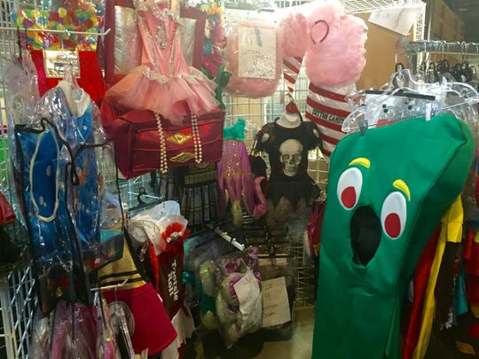 An eclectic array of costumes ranges from Gumby to a gumball machine at the Halloween Costume Outlet in Runnemede.