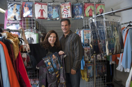 Owners Robert and Tina Berman of Rasta Imposta, a costume design business in Runnemede that sells to major retailers, opens its warehouse as an outlet for the Halloween season.