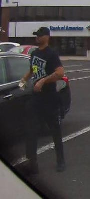 This man is a suspect in two hold-ups outside Cherry Hill banks on Tuesday.