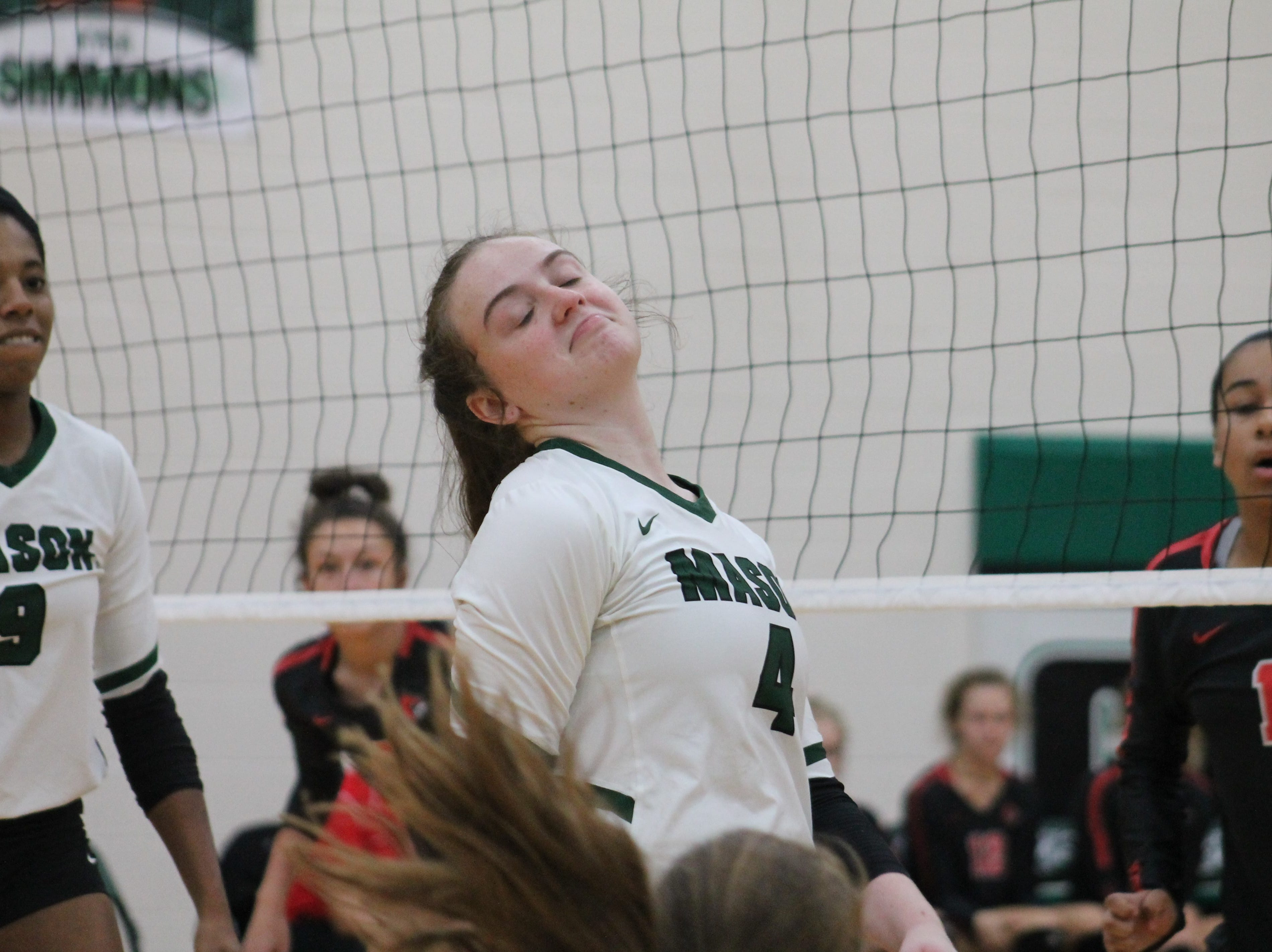 Junior setter Hannah Simmons is impressed with Mason's effort