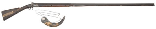 """John James Audubon's favorite """"Long Tom"""" hunting rifle and his ceremonial Scottish powder horn will be auctioned at Cowan's Auctions on Saturday, Oct. 6."""