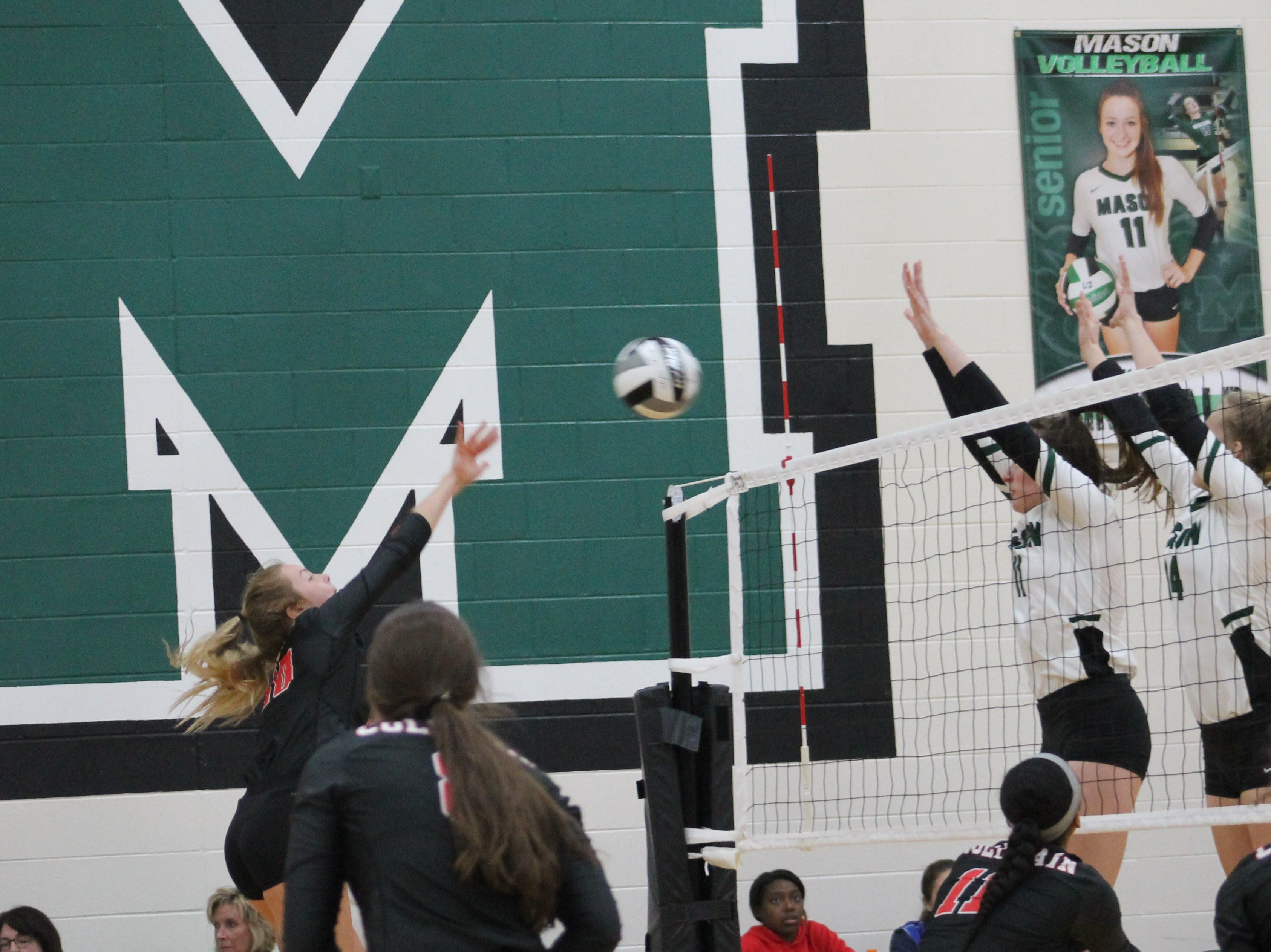 Kayla Ringwald and Chloe Pearce are up for the block for Mason against Colerain