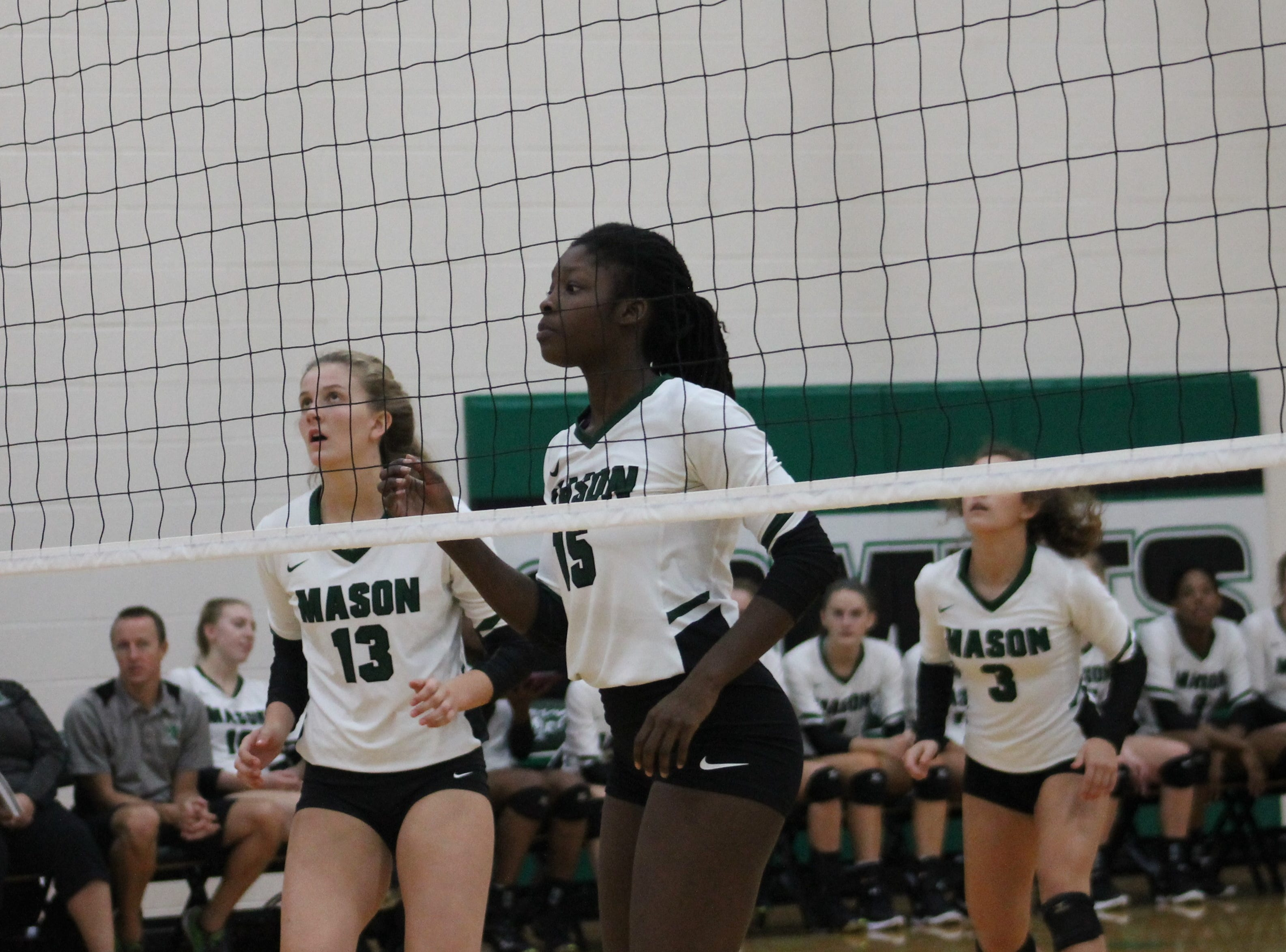 Sophomoroe Marilyn Popplewell-Garter and freshman Brooklyne Darby are young contributors for Mason