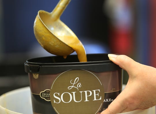 La Soupe, a non profit organization aimed at feeding food-insecure families, receives rescued produce from Kroger and Jungle Jim's each week.  With the help of area chefs, soup is distributed to schools and community centers. About 1,600 pints of soup are donated each week. The soup is frozen in donated ice cream containers. Suzy DeYoung is executive chef and owner of La Soupe.