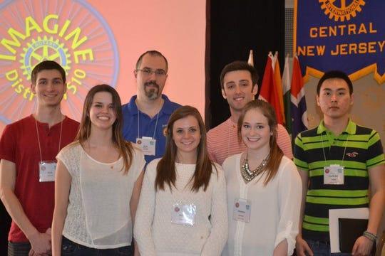 """Nemanja """"Nik"""" Nikitovic with RVCC Rotary Club officers."""