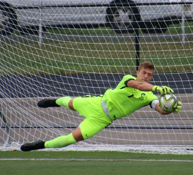 Immaculata goalie Anthony Ivanov.