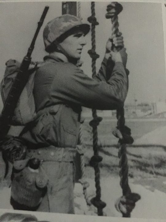 Daniel Puntillo in Marine Corps boot camp on Paris Island in 1966.