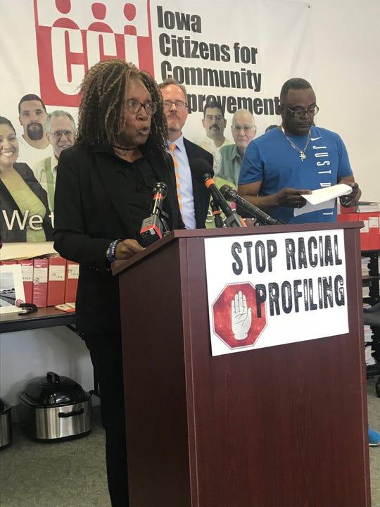 Iowa Citizizens for Community Improvement member Viola Perry