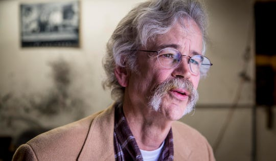 Art Cullen, editor of The Storm Lake Times, and 2017 Pulitzer Prize winner for editorial writing, in his offices Tuesday, Oct. 2, 2018, in Storm Lake, Iowa.