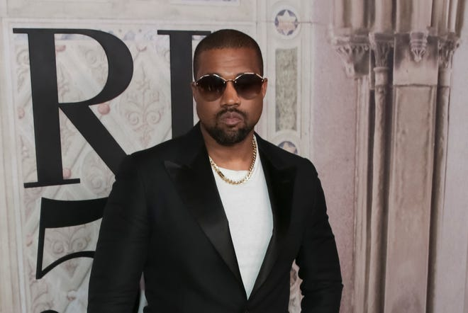 Kanye West attends the Ralph Lauren 50th Anniversary Event held at Central Park during New York Fashion Week in New York on Sept. 7.
