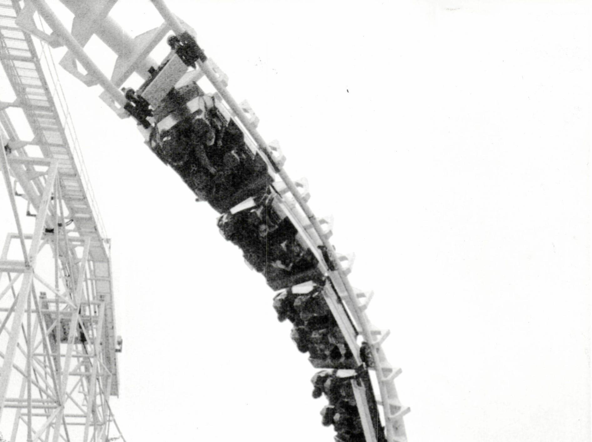 "The ""Screamer"" corkscrew roller coaster on Boblo Island opened in 1985."