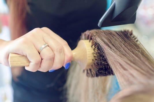Drying Female Hair