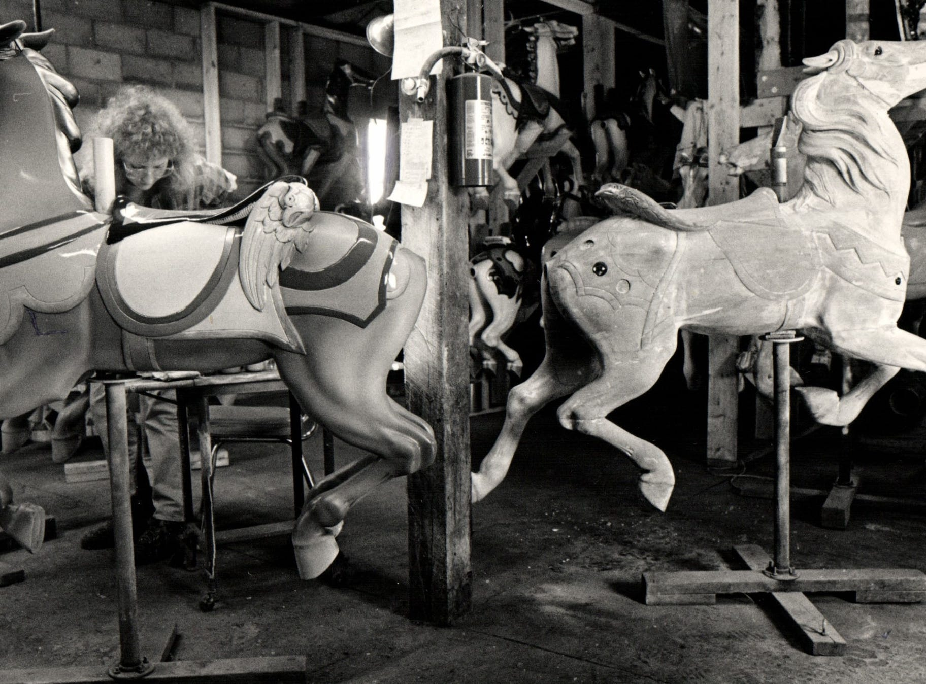 Boblo Island's carousel was dismantled and put up for auction in 1990.