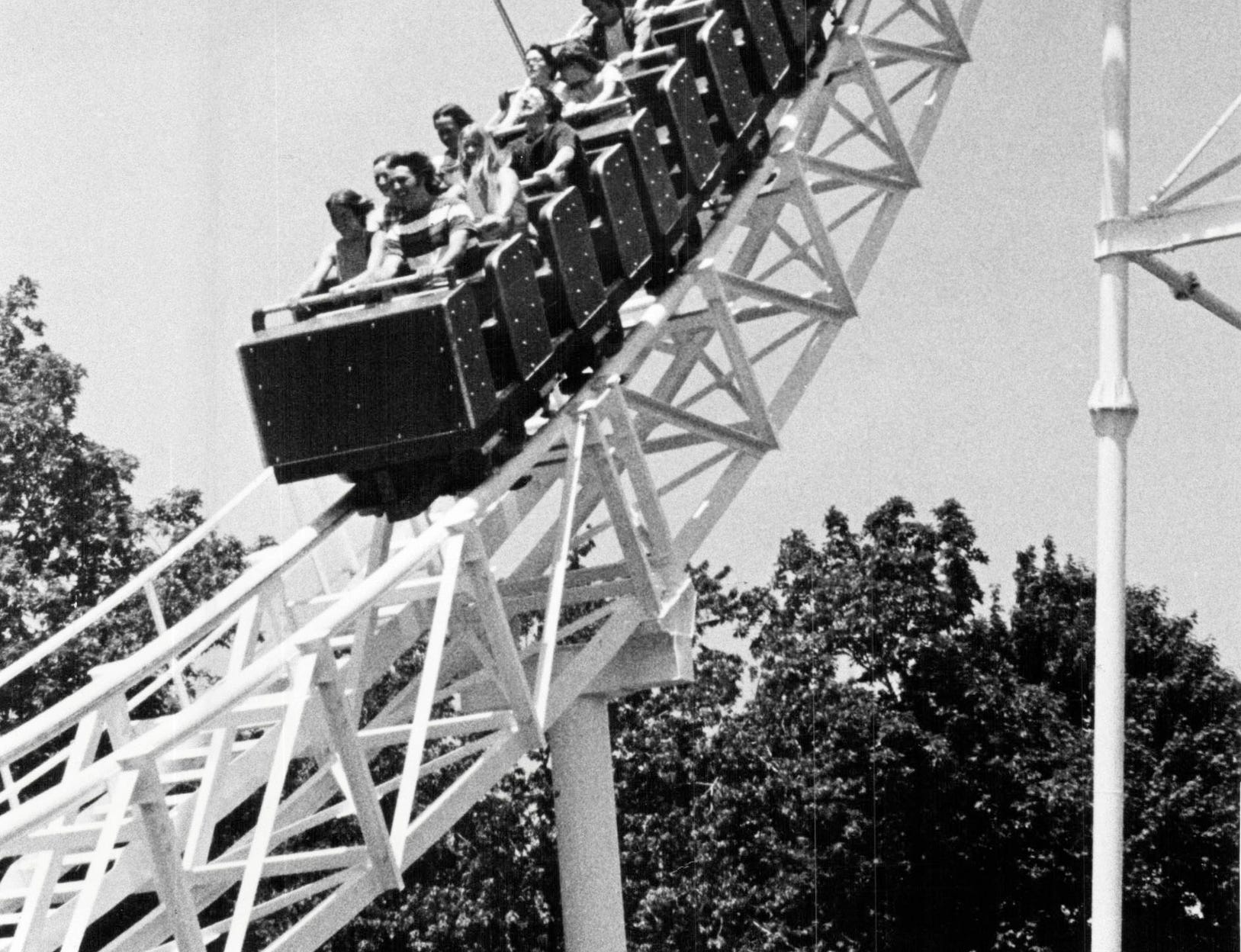 One of the roller coasters on Boblo Island.