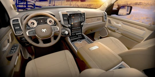 Leather seats in the 2019 Ram 1500 Laramie Longhorn