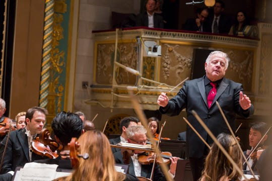 Leonard Slatkin leads the Detroit Symphony Orchestra in 2017.