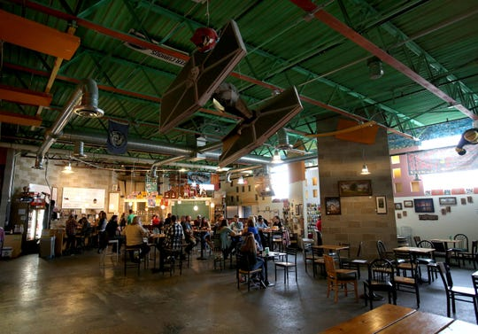 The interior of Right Brain Brewing Company owned by Russell Springsteen in Traverse City, Michigan on May 26, 2017.