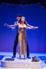 """Rusty Mewha and Kristin Shields in Jeff Daniels' """"Diva Royale"""" at Purple Rose Theatre through Dec. 29."""