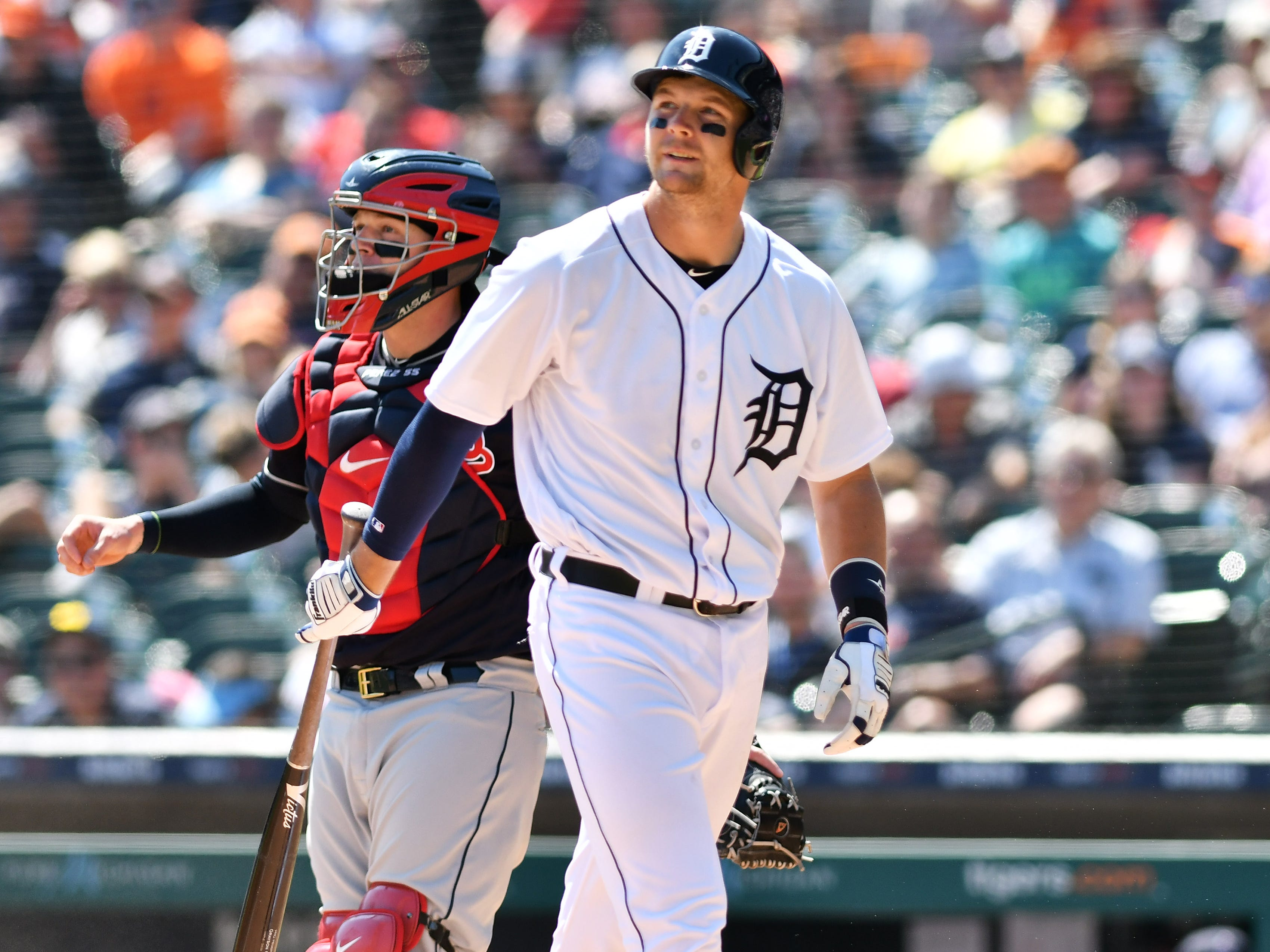 POSITION PLAYERS (batting average/on-base percentage/slugging percentage): CATCHERS: Grayson Greiner (.219/.328/.281): The Tigers were generally pleased with Greiner's work behind the plate this season. He was a quick study with the pitching staff, and got high praise for his ability to adjust the game plan on the fly within games. He didn't hit much, but he had a .355 on-base percentage after the All-Star break, drawing 12 walks.  Mid-term grade: Inc. Second-half grade: C Final grade: C