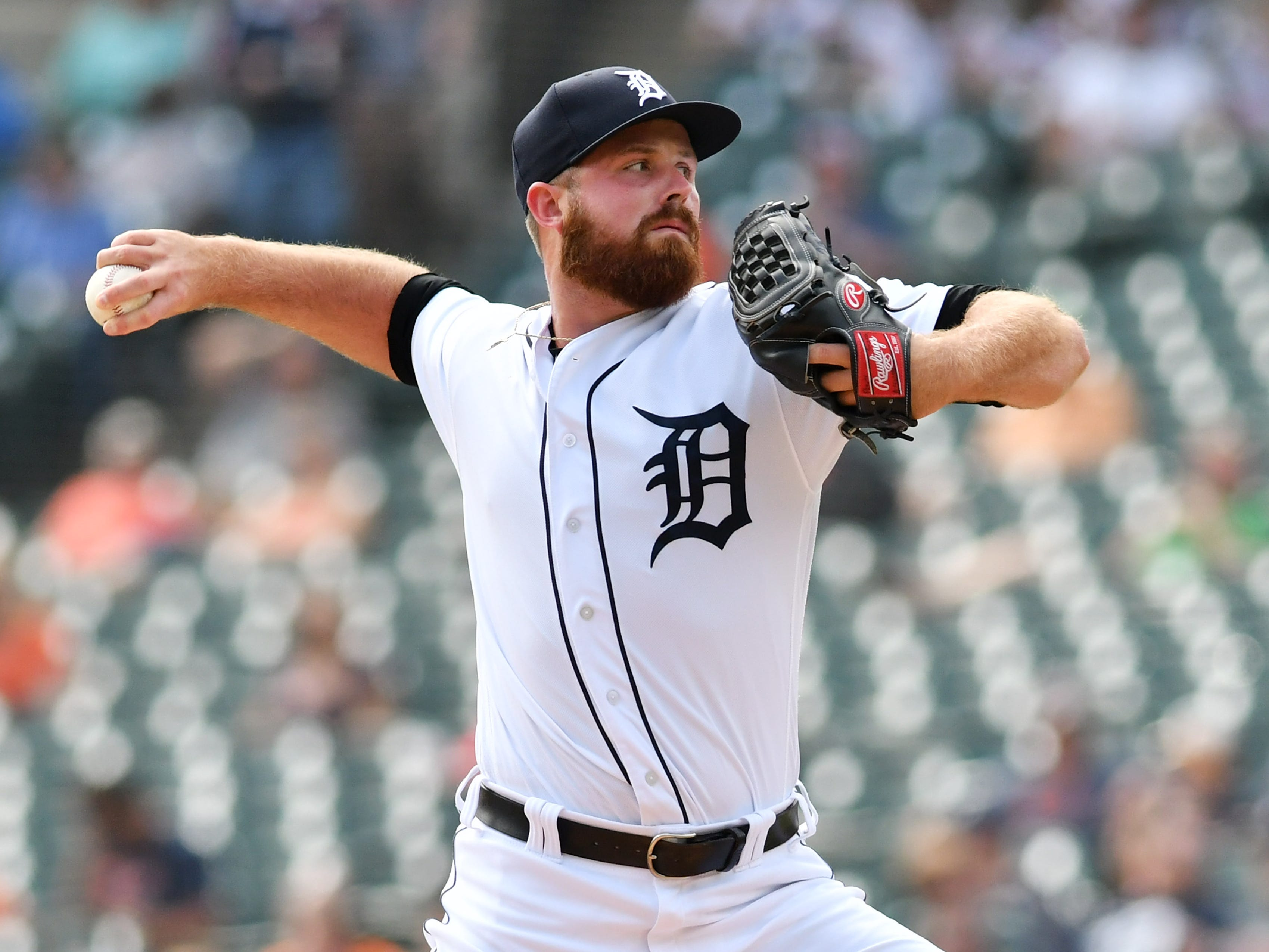 Buck Farmer (3-4, 4.15, 1.56): Nearly a third of the runs he allowed came in a six-game stretch at the end of May. After that, he was as steady as the Tigers had, although he was not asked to pitch much in high-leverage situations. Still, he went unscored upon in September (nine outings, 10.1 innings, .189 OBA). His change-up, when he commands it, is lethal (.176). But to earn a meatier role, he needs to improve his slider. Right-handed hitters are way too comfortable against him (hitting .320 overall and .308 against his slider)  Mid-term grade: C-minus Second-half grade: B Final grade: C