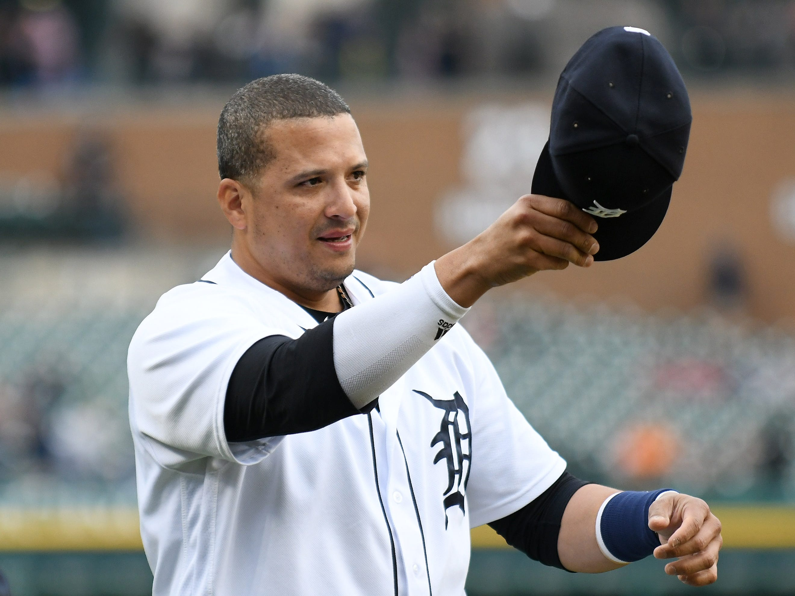 DESIGNATED HITTER: Victor Martinez (.251/.297/.353): One of the highlights of the season was Martinez's final ride. He got stirring and richly-deserved tributes in Cleveland, Minnesota and of course, a tear-filled day in Detroit on Sept. 22 when the final at-bat of his 16-year career was, ironically, an infield single into the shift. His behind-the-scenes leadership and mentoring was as valuable as anything he's done on the field the last two years, for sure. He leaves the game with 2,153 hits, a .295 career average, 423 doubles, 246 home runs and 1,178 RBIs. He goes into the books as the most productive switch-hitter in Tigers history.  Mid-term grade: C Second-half grade: B Final grade: C-plus