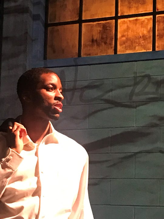 """Yakeem Taytum in Dominique Morisseau's """"Pipeline"""" at Detroit Public Theatre Oct. 4 - Nov. 4."""