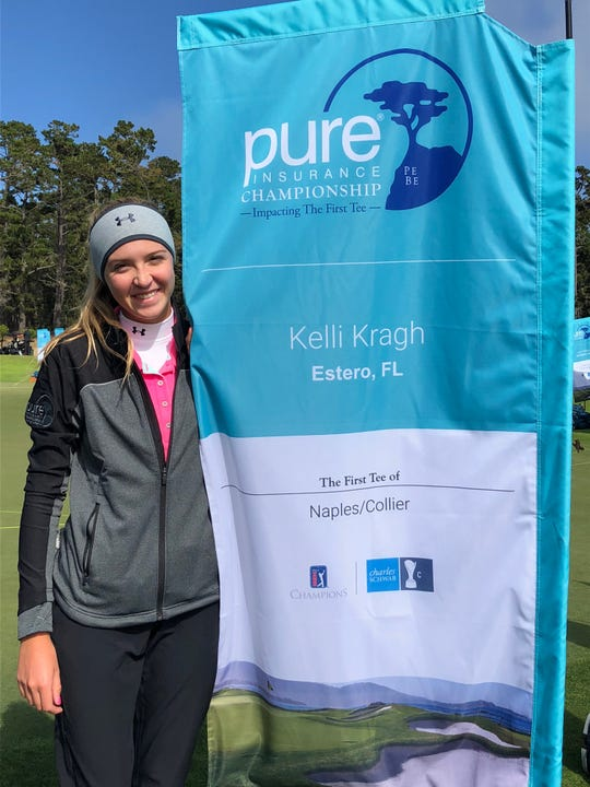 Estero High School senior Kell Kragh represented the Naples/Collier First Tee Chapter at the Pure Insurance Championship and finished in a tie for 14th alongside professional Marco Dawson on Sunday.