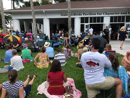 About 500 people gathered at the Burroughs Home in Fort Myers to listen to Erin Brockovich on Wednesday.