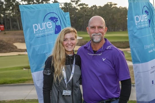 Estero senior Kelli Kragh partnered with PGA Tour Champions' Marco Dawson at the Pure Insurance Championship and as a team they finished tied for 14th.