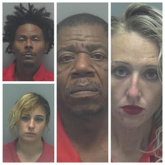 Arrested on various drug charges as part of Operation Fall Frenzy were, top left, Melvin Williams, bottom left, Angelinz Rodriguez, Gregory Watts and  Shelby McCracken