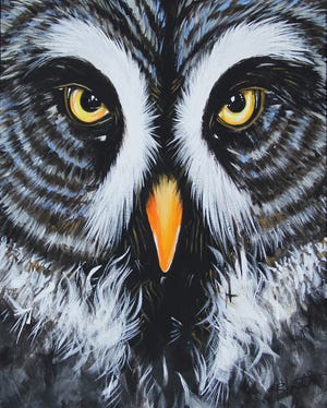 "Former gallery owner Stephen Blancett's ""Who Da Owl Are You"" will be displayed in a new exhibit at Davis Art Center celebrating 10 years of Art Walk."