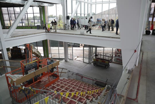 Construction continues on TitletownTech, a 46,000-square-foot building with an innovation center and space for commercial businesses,  across from Lambeau Field in Ashwaubenon.