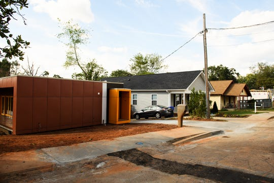 """The """"passive home"""" that German architect Konrad Lentschig is assembling in the Sterling neighborhood of Greenville stands out from other nearby homes for its modern design."""