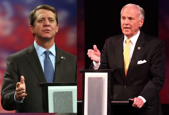 Democrat James Smith, left, and South Carolina Gov. Henry McMaster, a Republican, will come to Greenville on Oct. 25 for their final debate before next month's election.