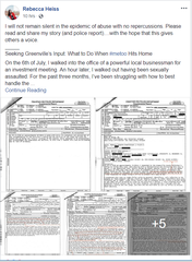Rebecca Heiss posted her account on Tuesday, Oct. 2, 2018, of what she says happened between herself and Melvin Younts during a meeting on July 6.