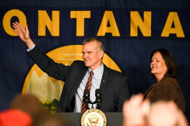 Matt Rosendale and wife, Jean, in 2018.