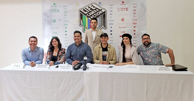 IT&E and community partners discuss the importance of mental health awareness and suicide prevention at a press conference on Sept. 25 at Tumon Sands Plaza.