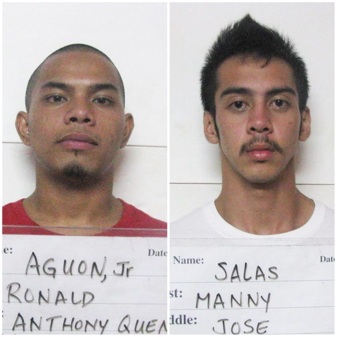 Ronald Anthony Quenga Aguon Jr. and Manny Jose Salas are shown in this combined photo.