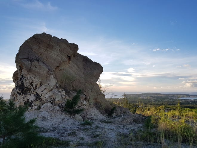 Photo of the week winner Joshua Garamfel this photo of a scenic spot in Santa Rita overlooking other parts of Guam.