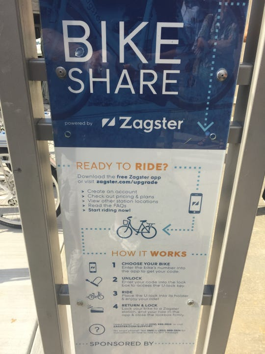 The instructions for the Zagster Bike Share program are pretty straightforward, but you have to have a smartphone.