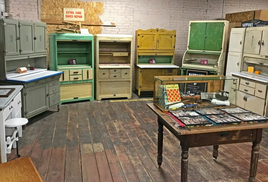 A variety of Coppes Napanee cabinets on display at the Hoosier Cabinet Museum at Coppes Commons in Nappanee, Indiana on Wednesday, Sept. 26, 2018.