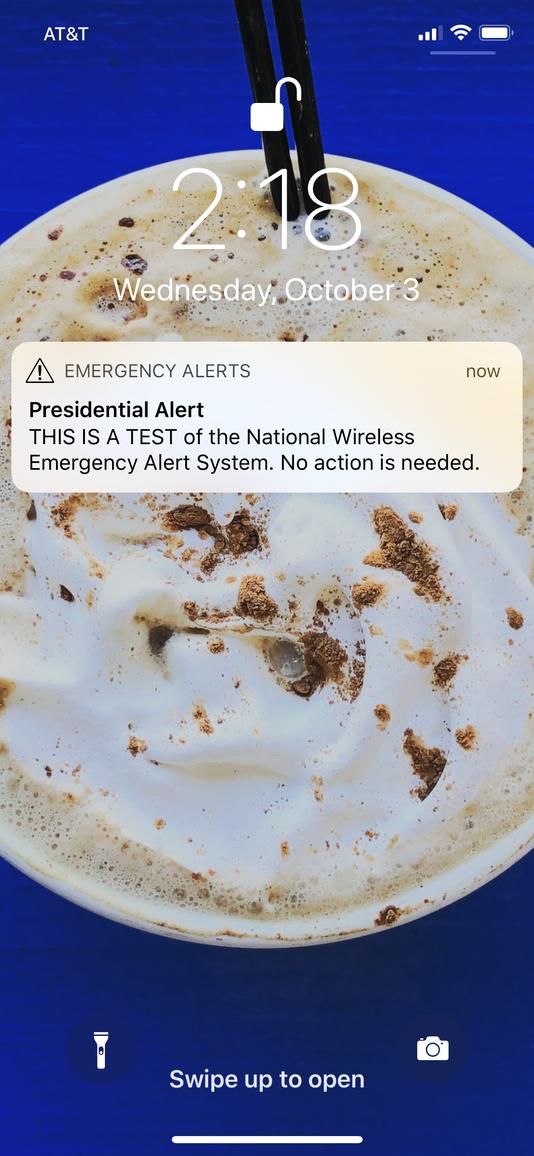 Presidential Alert test