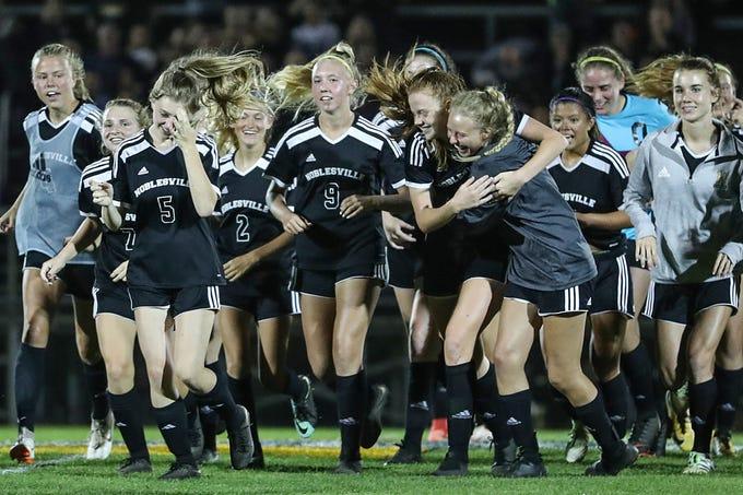 728cd071804e Noblesville girls soccer knocks off Hamilton Southeastern in sectional  opener