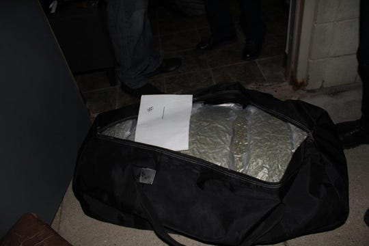Indianapolis and Illinois policeteamed up toseize 14 duffel bags full of marijuana headed for Carmel and Indianapolis.