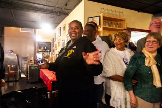 Royceann Porter jokes around on Tuesday, Oct. 2, 2018, at Billy's High Hat Diner on Iowa Avenue in Iowa City.
