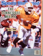 Sports Illustrated magazine with Tennessee quarterback Tony Robinson on the cover. October 7, 1985. Ronald C. Modra was the photographer.